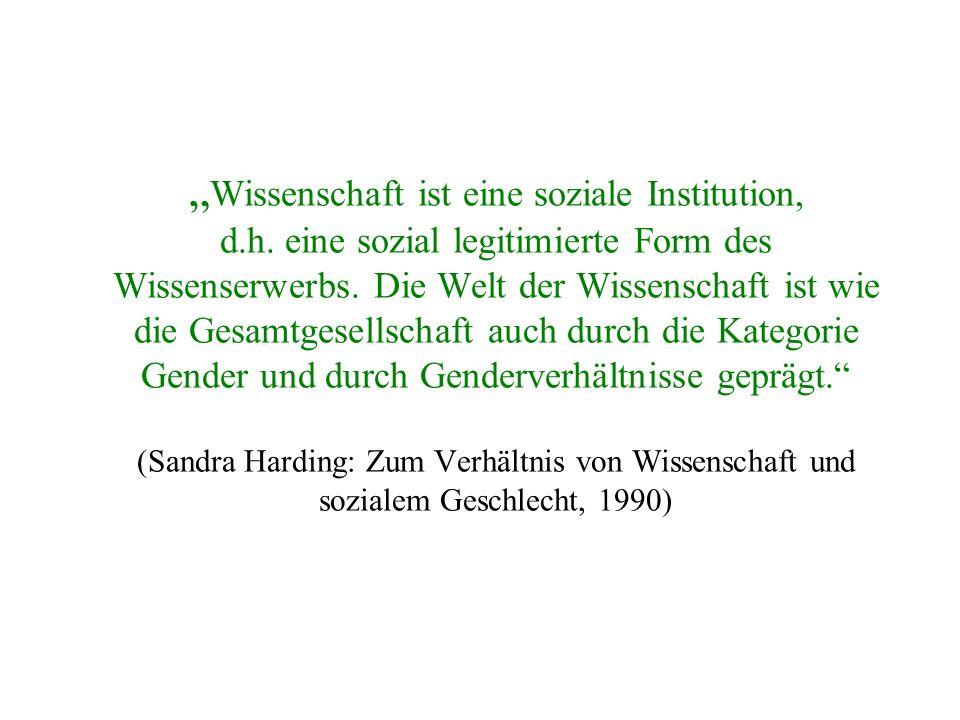 """""""Wissenschaft ist eine soziale Institution, d. h"""