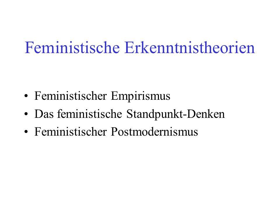Feministische Erkenntnistheorien