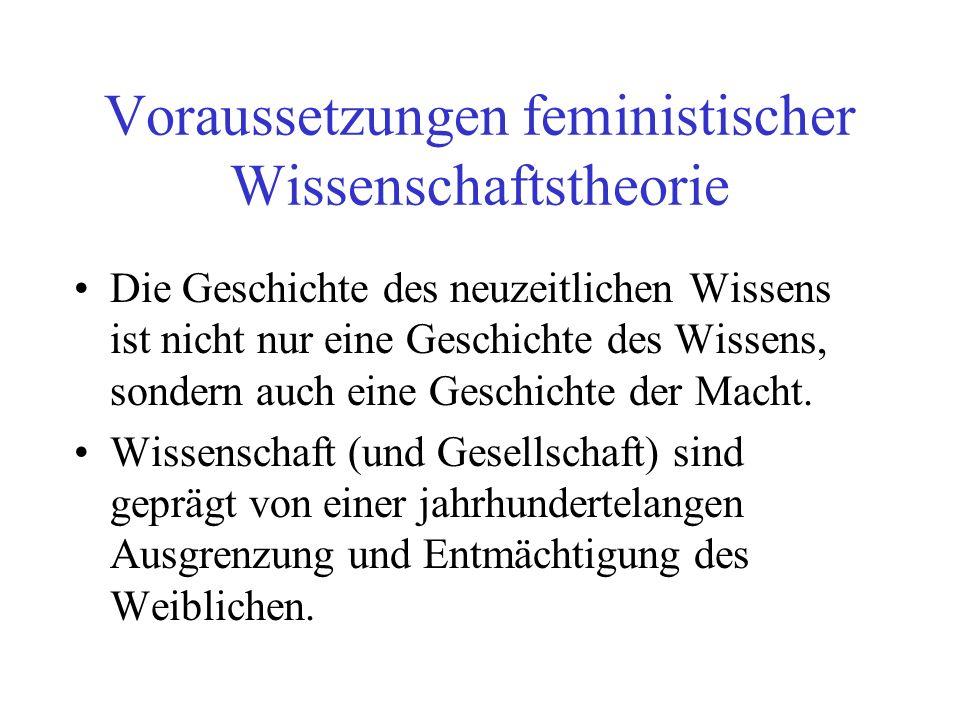 Voraussetzungen feministischer Wissenschaftstheorie