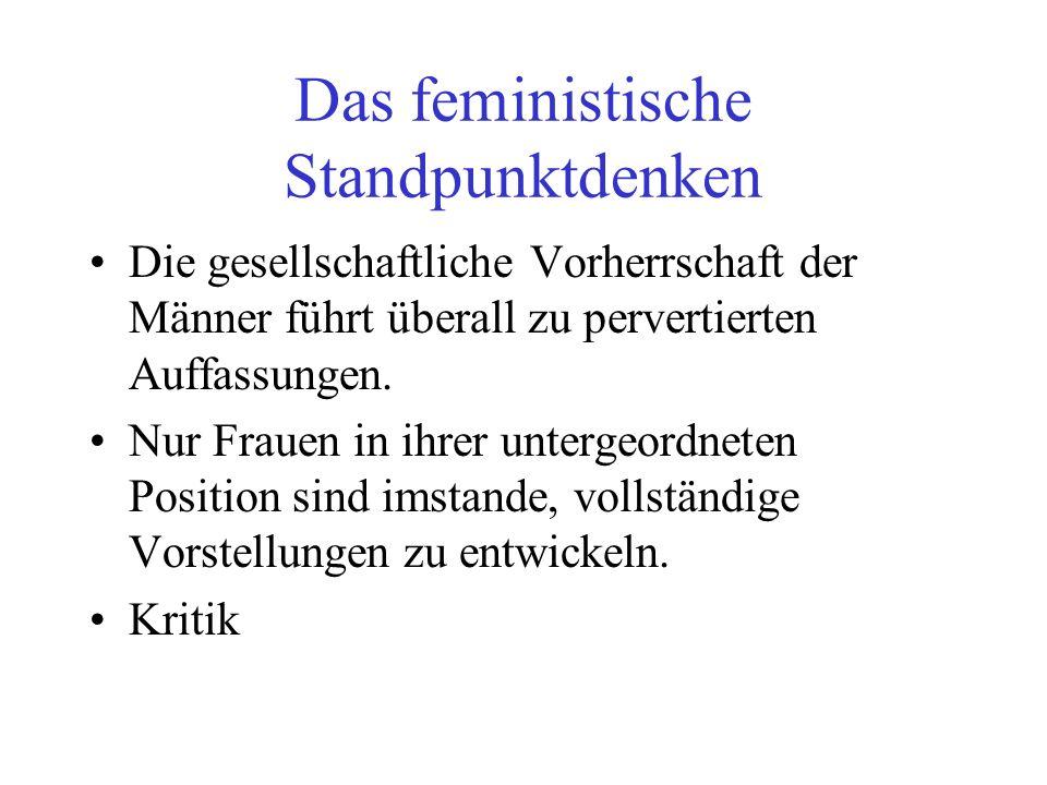 Das feministische Standpunktdenken