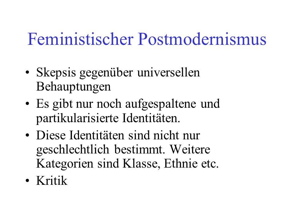 Feministischer Postmodernismus