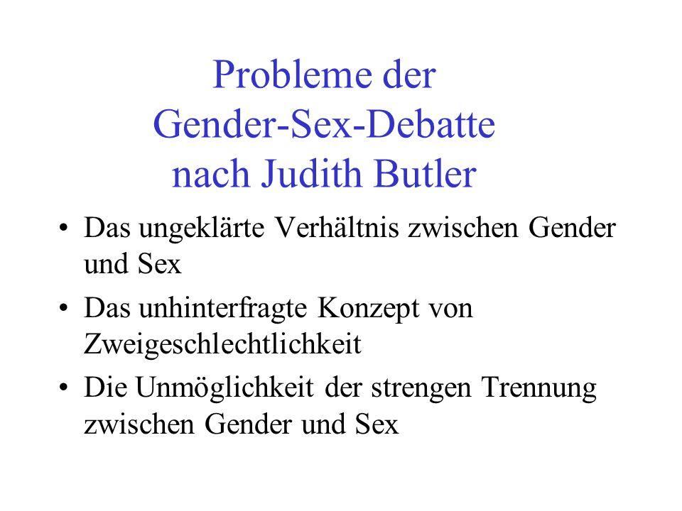 Probleme der Gender-Sex-Debatte nach Judith Butler