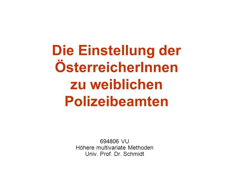 Die Einstellung der ÖsterreicherInnen zu weiblichen Polizeibeamten