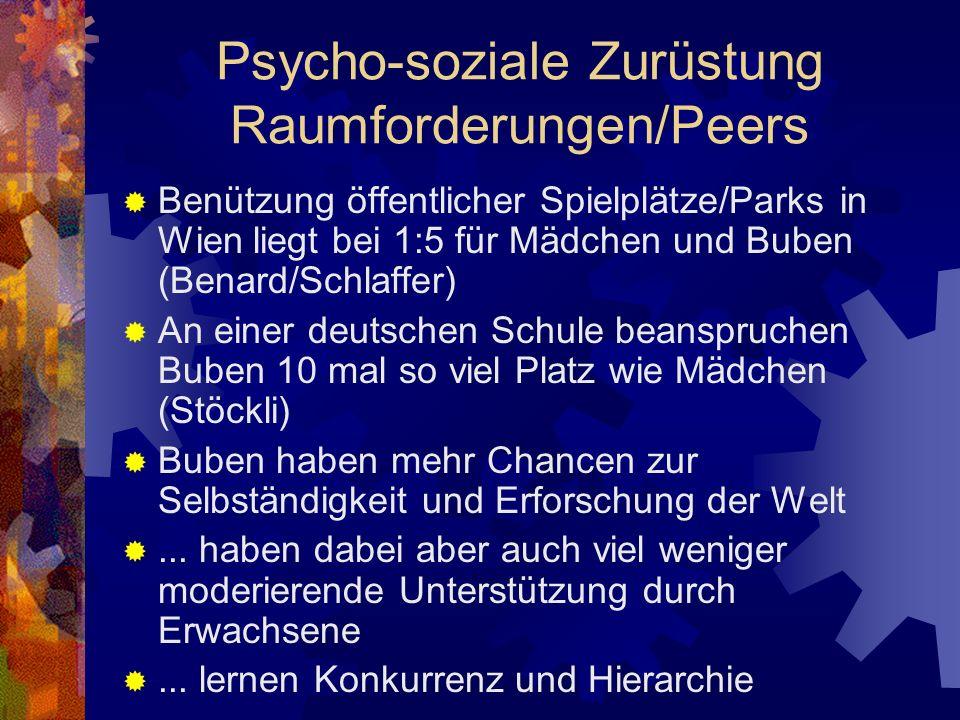 Psycho-soziale Zurüstung Raumforderungen/Peers