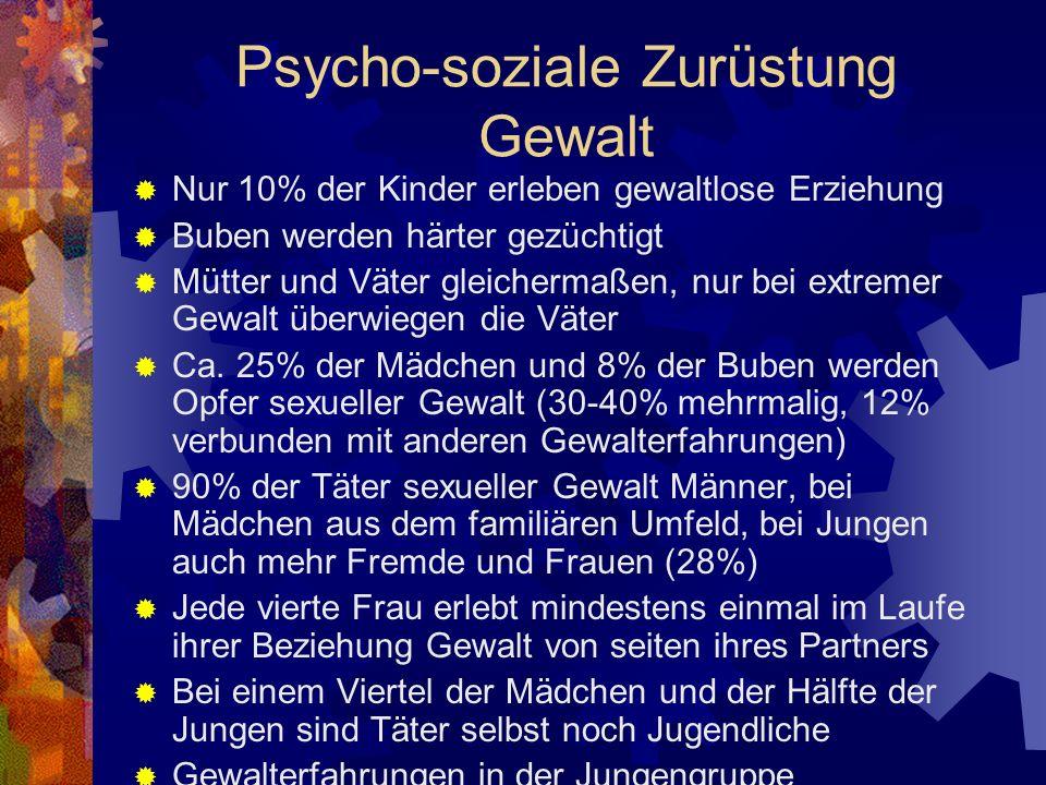 Psycho-soziale Zurüstung Gewalt