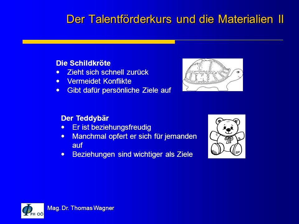 Der Talentförderkurs und die Materialien II