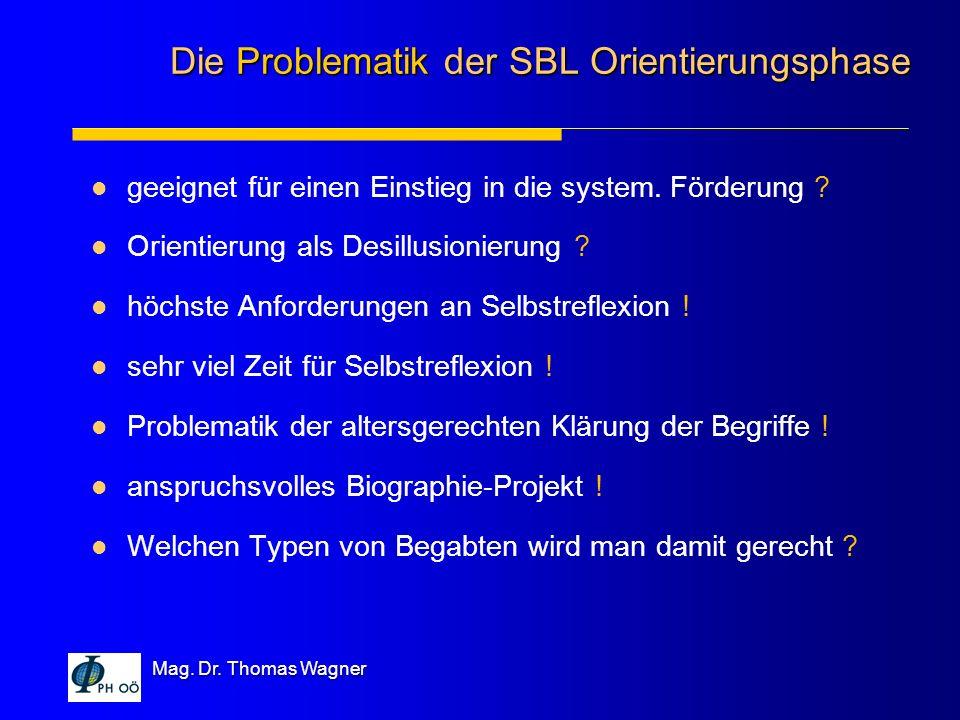 Die Problematik der SBL Orientierungsphase
