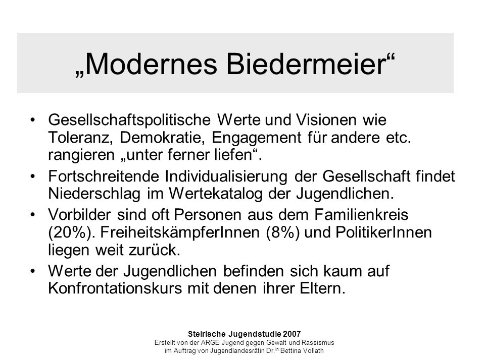 """Modernes Biedermeier"