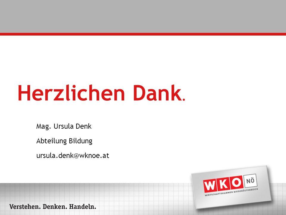 Mag. Ursula Denk Abteilung Bildung ursula.denk@wknoe.at