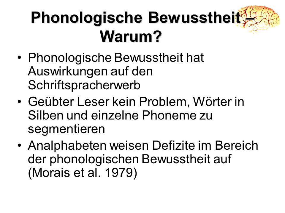 Phonologische Bewusstheit – Warum