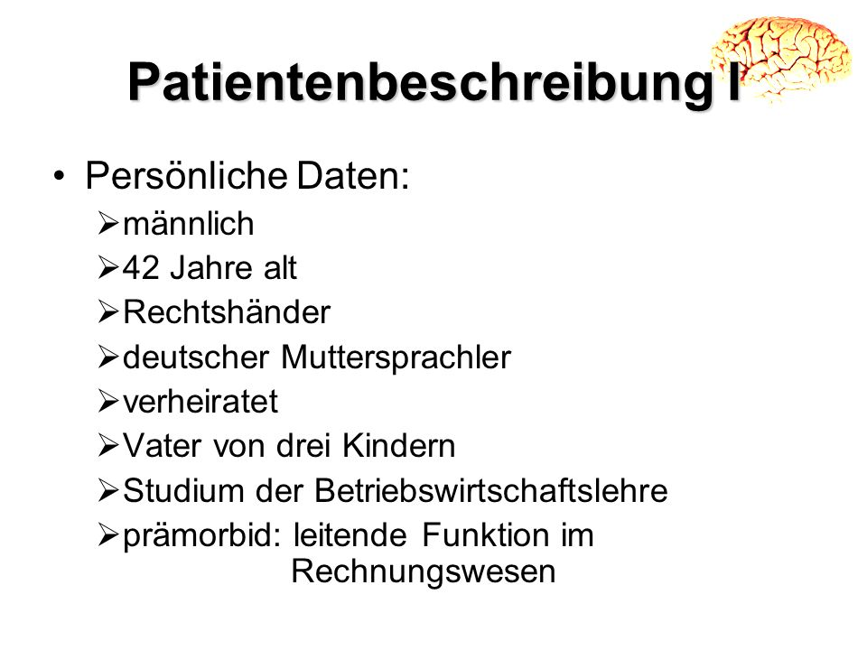 Patientenbeschreibung I
