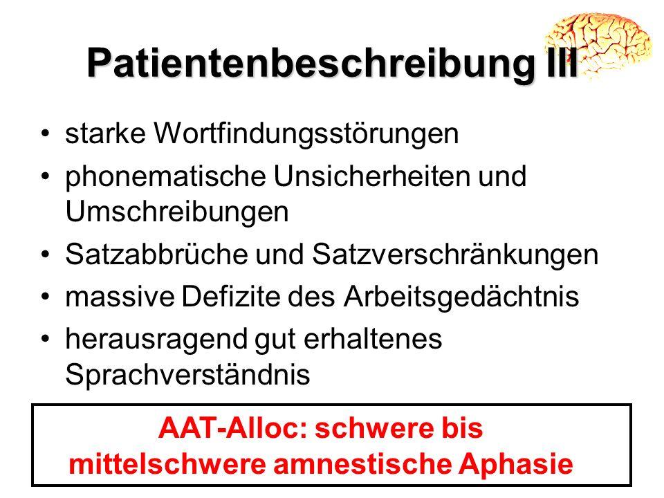 Patientenbeschreibung III