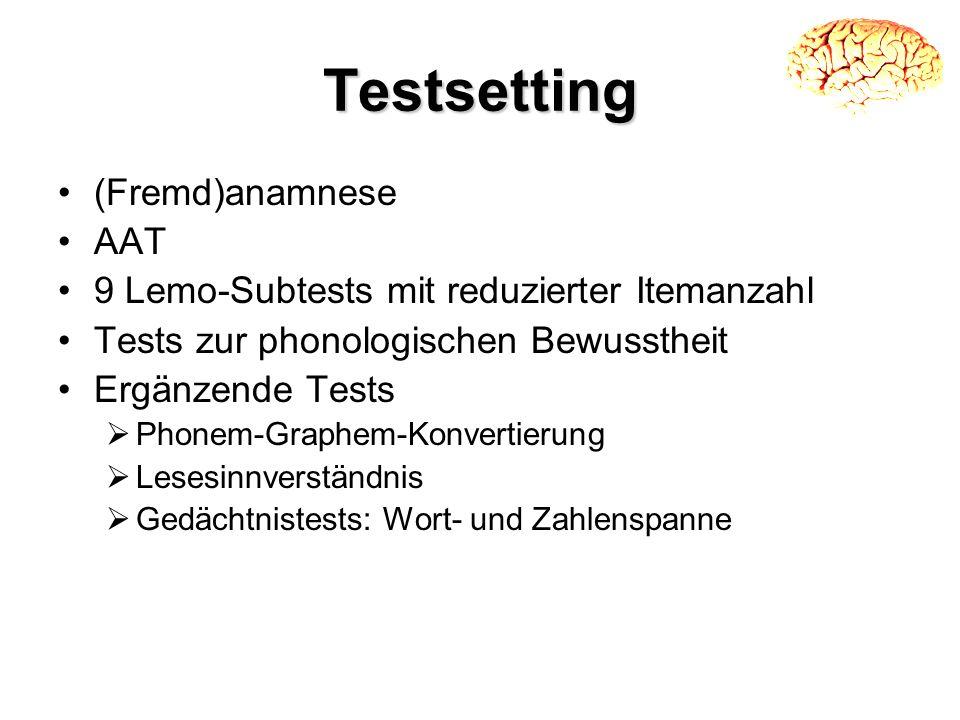 Testsetting (Fremd)anamnese AAT