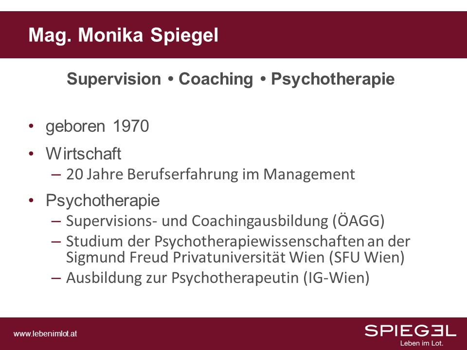 Supervision • Coaching • Psychotherapie