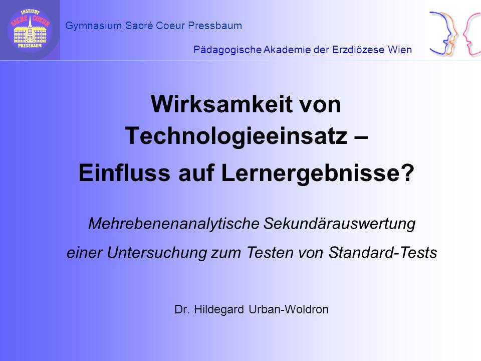 Wirksamkeit von Technologieeinsatz – Einfluss auf Lernergebnisse