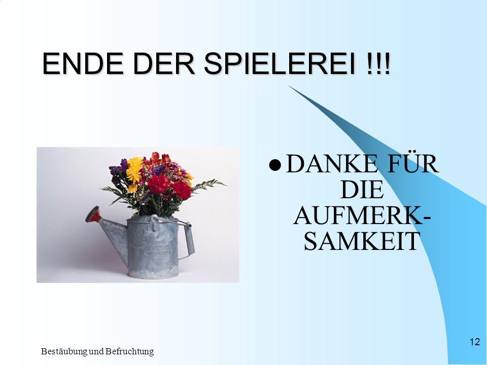 DANKE FÜR DIE AUFMERK-SAMKEIT