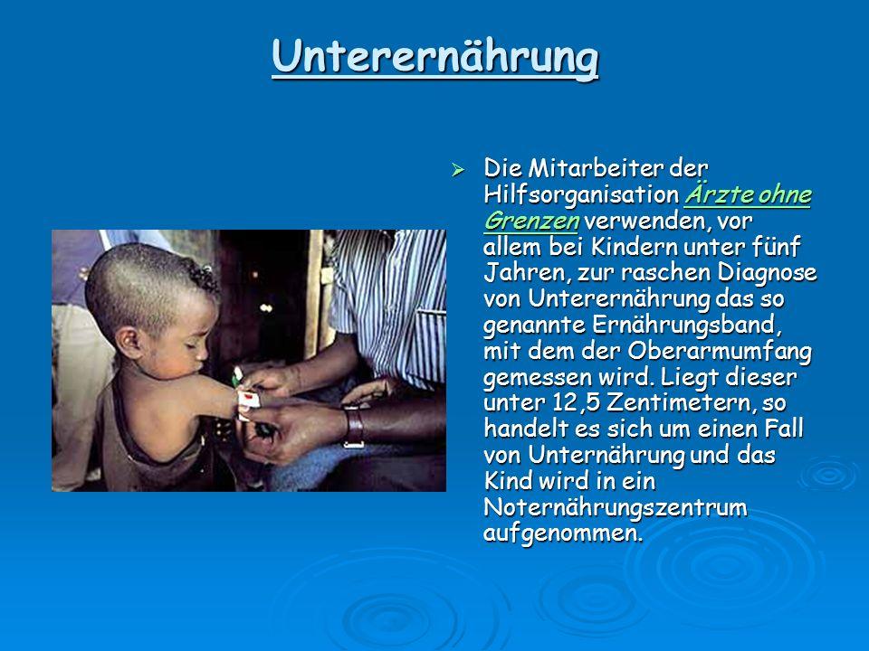 Unterernährung