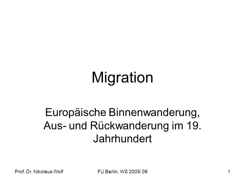 Europäische Binnenwanderung, Aus- und Rückwanderung im 19. Jahrhundert