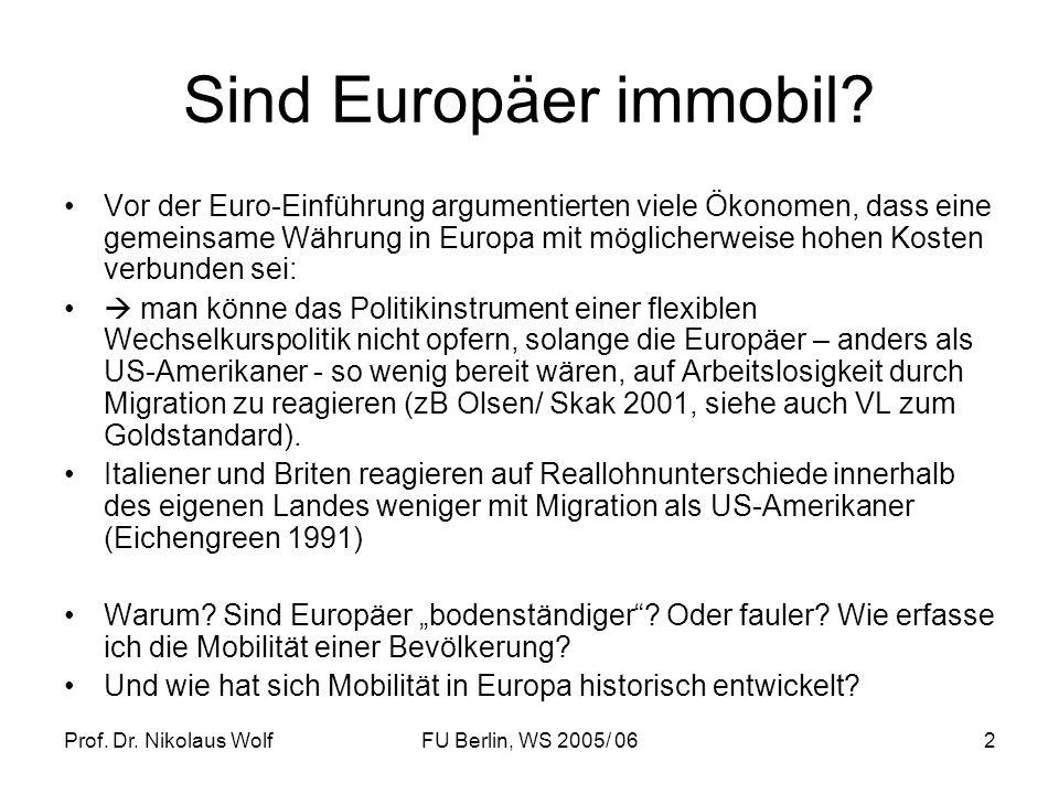 Sind Europäer immobil