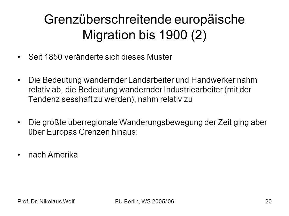 Grenzüberschreitende europäische Migration bis 1900 (2)
