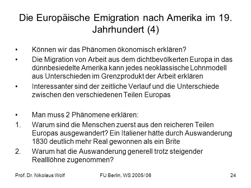 Die Europäische Emigration nach Amerika im 19. Jahrhundert (4)