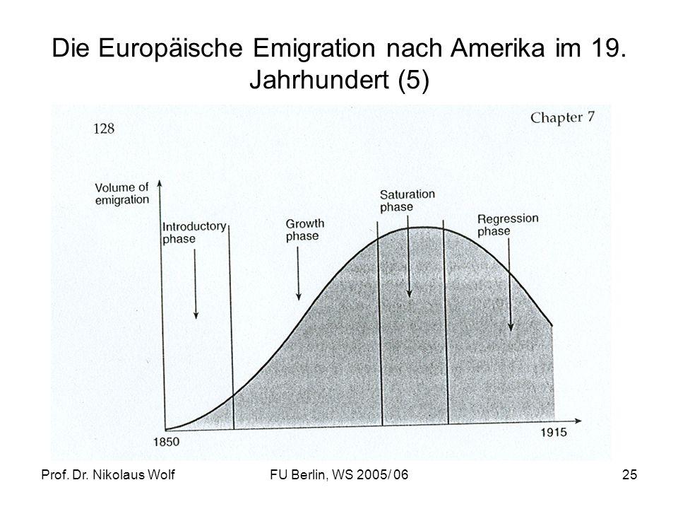 Die Europäische Emigration nach Amerika im 19. Jahrhundert (5)