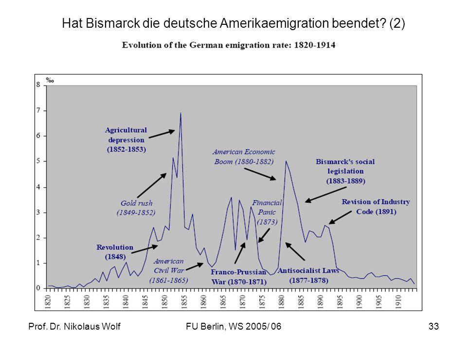 Hat Bismarck die deutsche Amerikaemigration beendet (2)