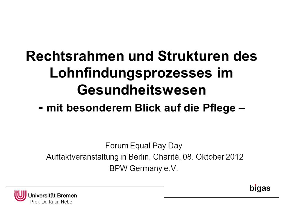 Auftaktveranstaltung in Berlin, Charité, 08. Oktober 2012