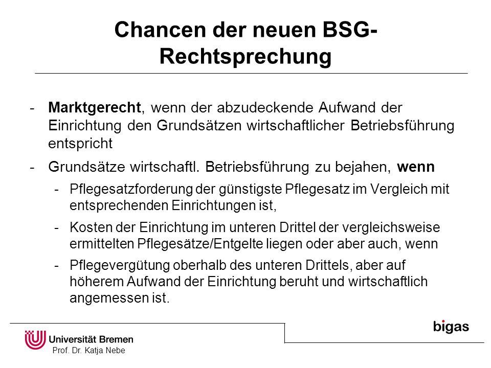 Chancen der neuen BSG-Rechtsprechung