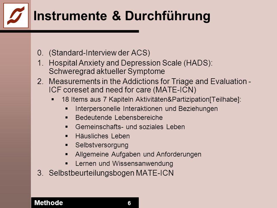 Instrumente & Durchführung
