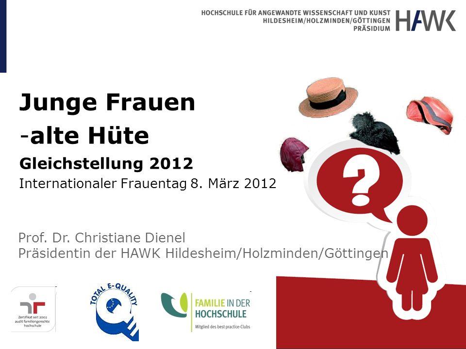 Junge Frauen alte Hüte Gleichstellung 2012