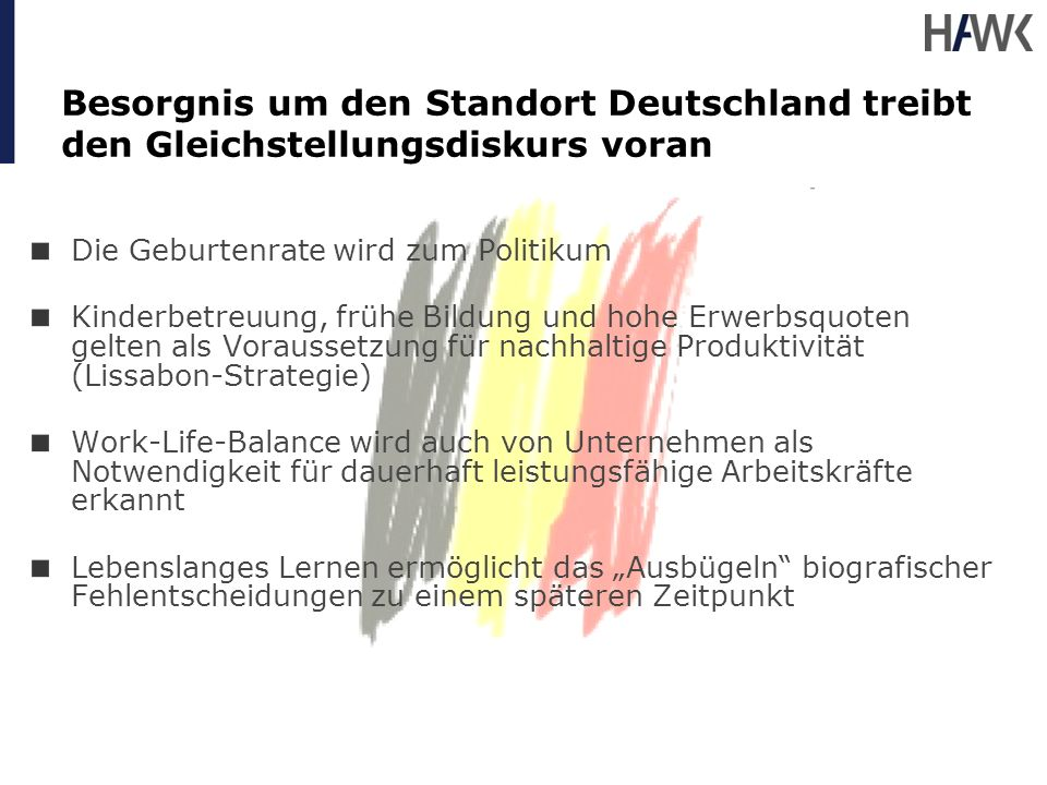 Besorgnis um den Standort Deutschland treibt den Gleichstellungsdiskurs voran