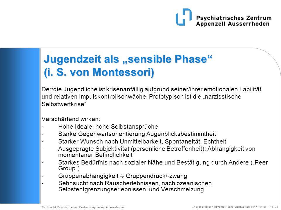 """Jugendzeit als """"sensible Phase (i. S. von Montessori)"""