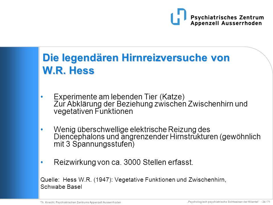 Die legendären Hirnreizversuche von W.R. Hess