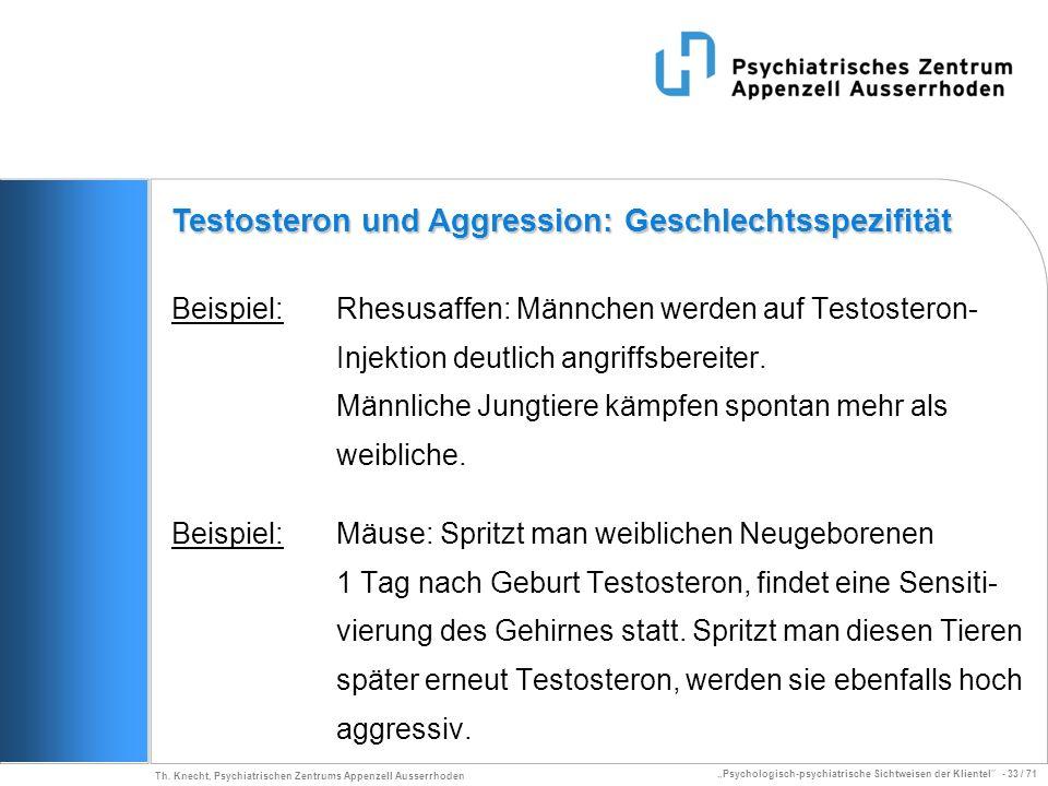 Testosteron und Aggression: Geschlechtsspezifität