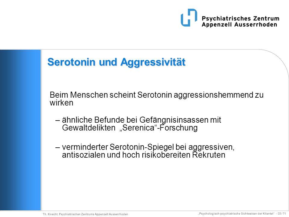 Serotonin und Aggressivität