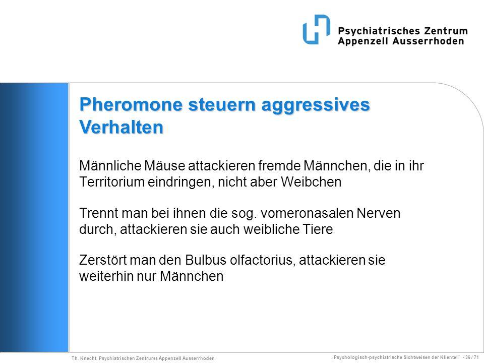 Pheromone steuern aggressives Verhalten
