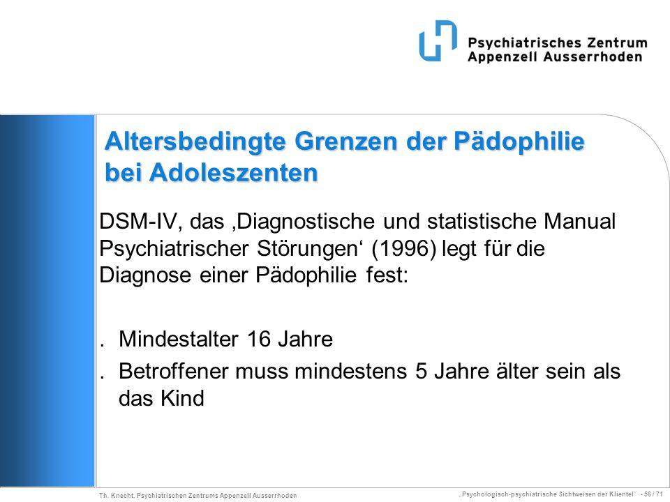 Altersbedingte Grenzen der Pädophilie bei Adoleszenten