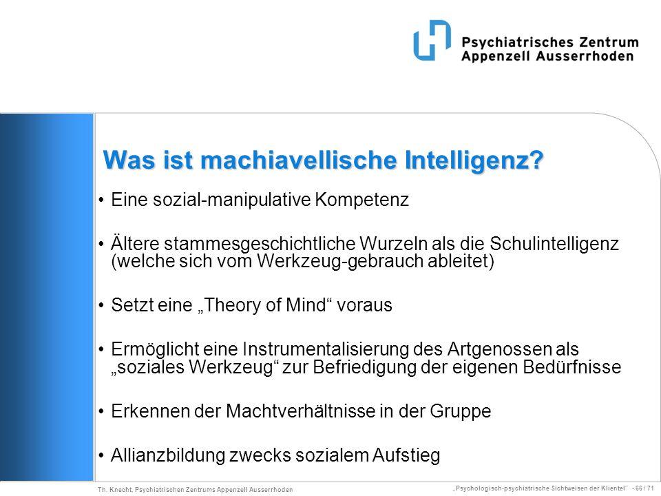 Was ist machiavellische Intelligenz