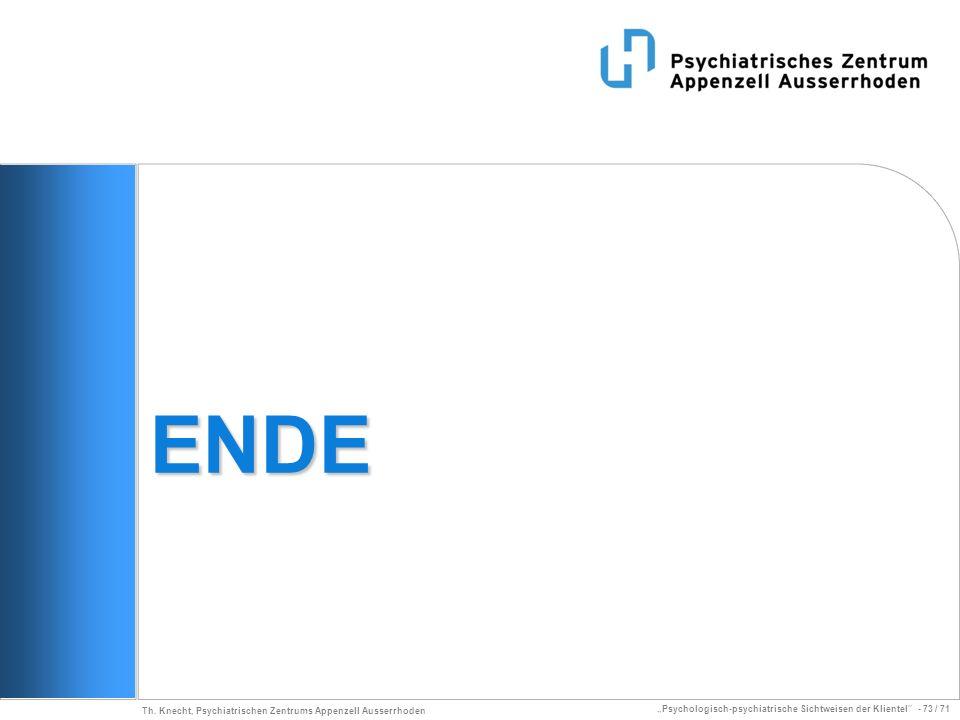 ENDE Th. Knecht, Psychiatrischen Zentrums Appenzell Ausserrhoden