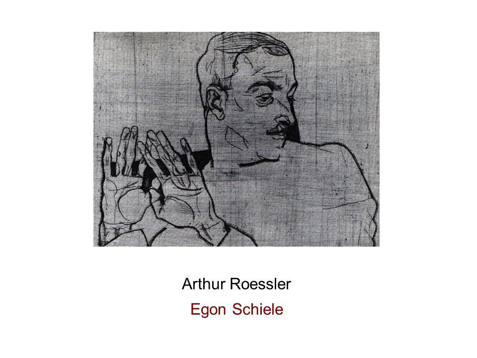 Radierung 1914 Arthur Roessler Egon Schiele