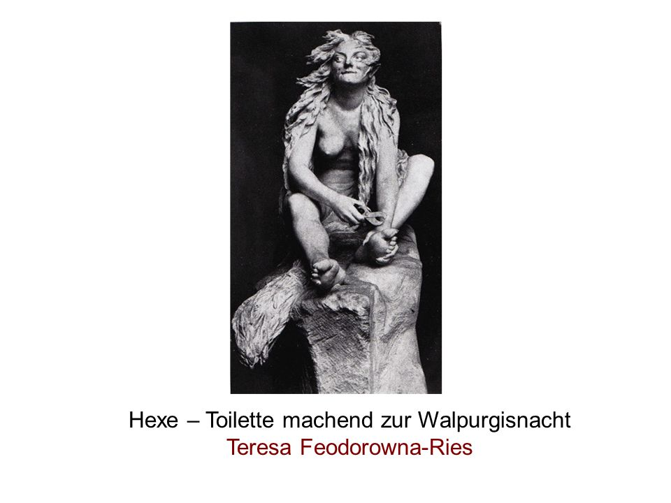 Hexe – Toilette machend zur Walpurgisnacht Teresa Feodorowna-Ries