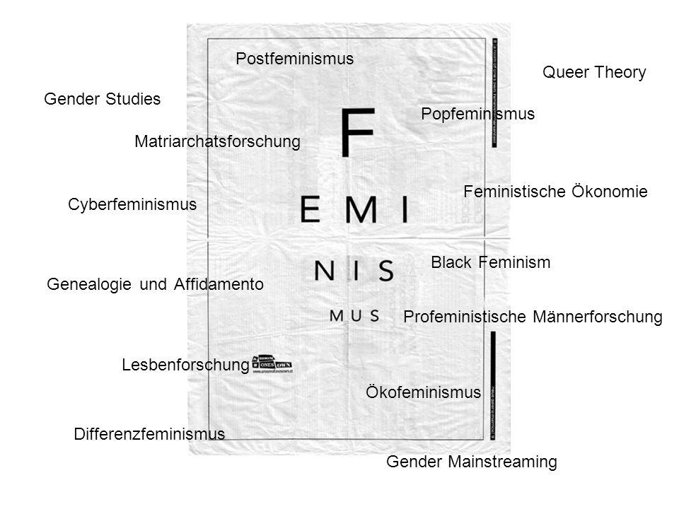 Postfeminismus Queer Theory. Gender Studies. Popfeminismus. Matriarchatsforschung. Feministische Ökonomie.