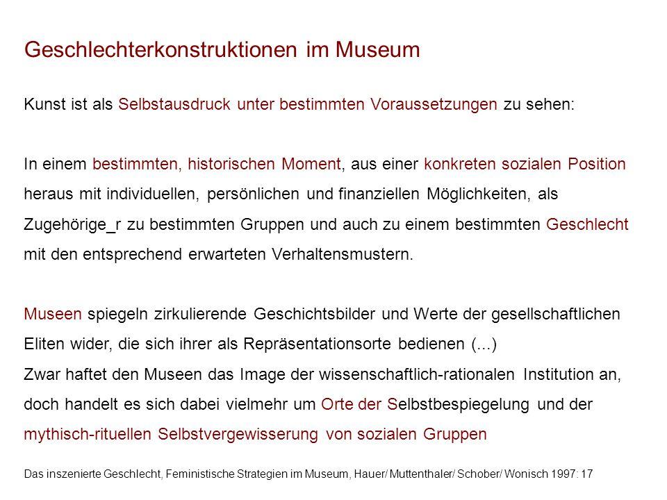 Geschlechterkonstruktionen im Museum