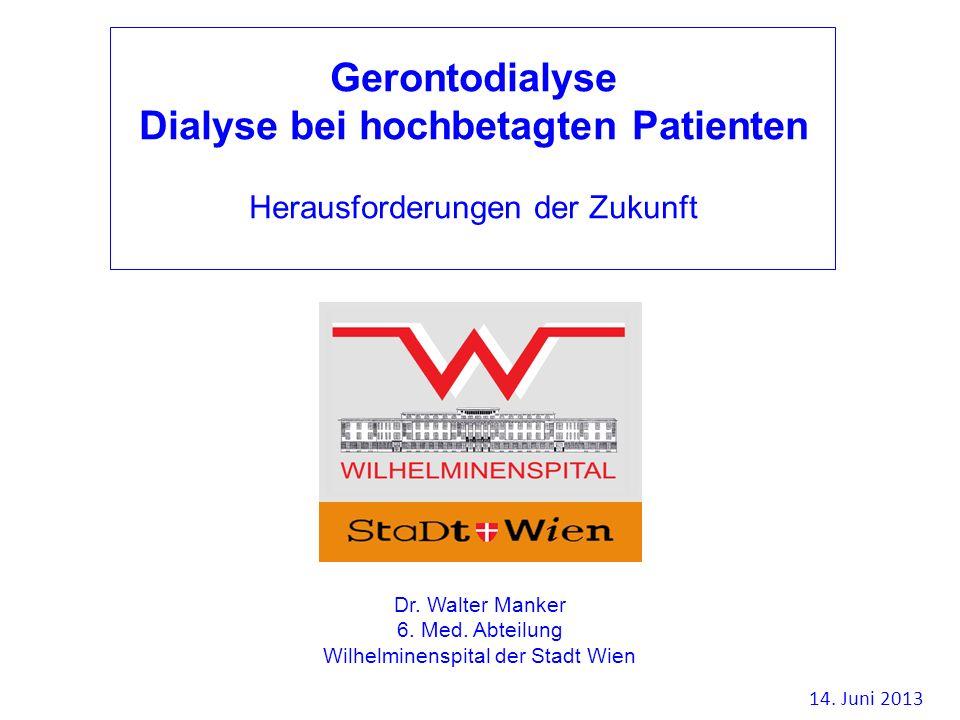 Dialyse bei hochbetagten Patienten
