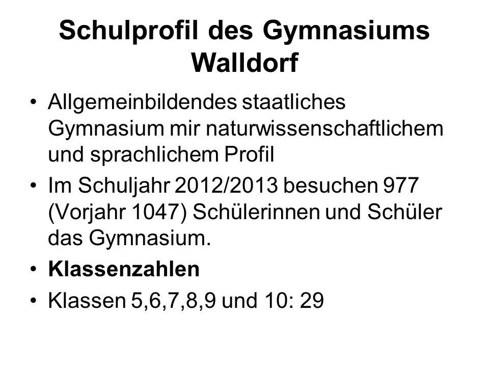Schulprofil des Gymnasiums Walldorf