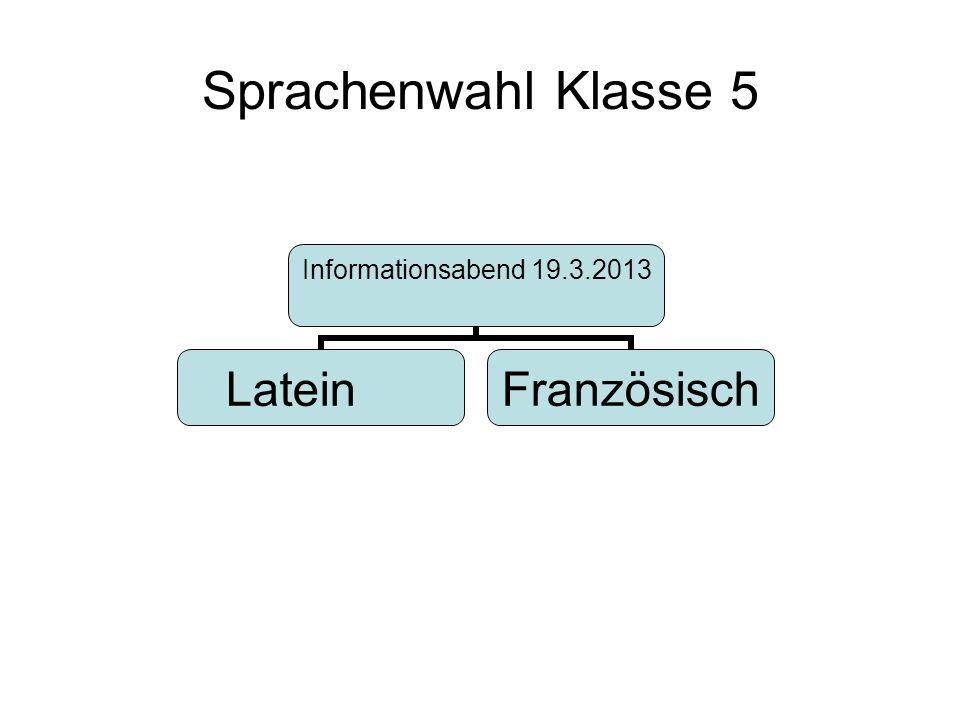 Sprachenwahl Klasse 5