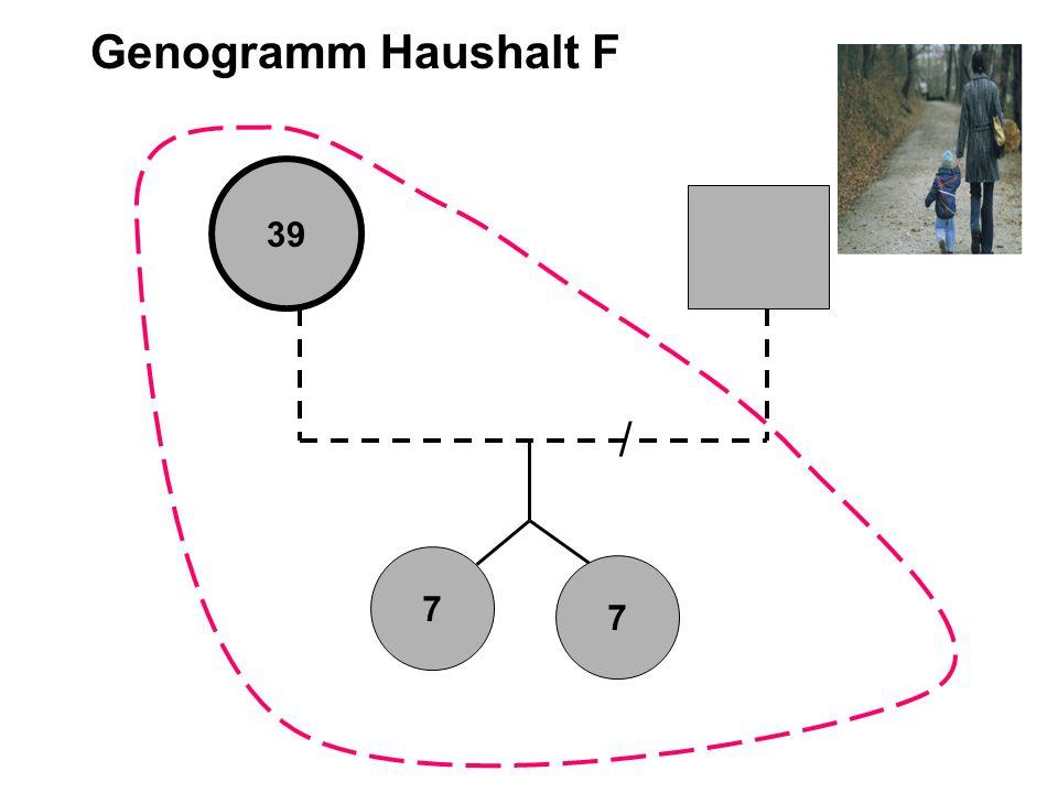Genogramm Haushalt F 39 / 7 7