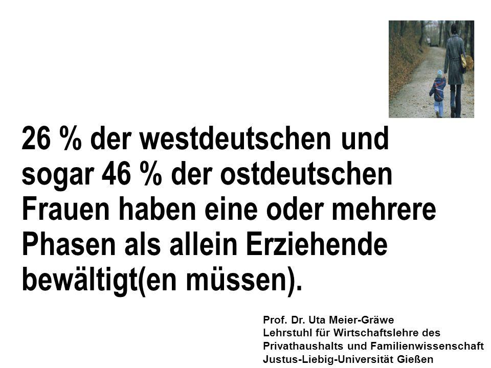 26 % der westdeutschen und sogar 46 % der ostdeutschen