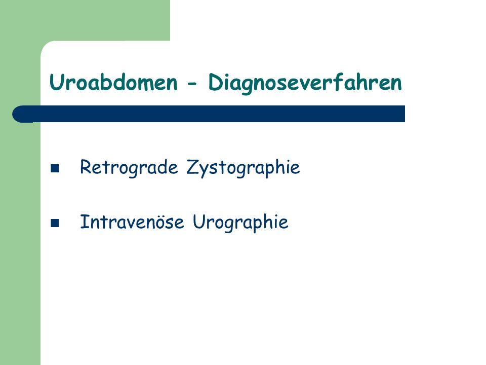 Uroabdomen - Diagnoseverfahren